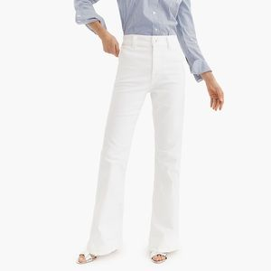 NWT J. Crew Wide-Leg Trouser Jeans in White 26